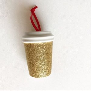Starbucks Gold Glitter Ornament Holiday 2018 NWT